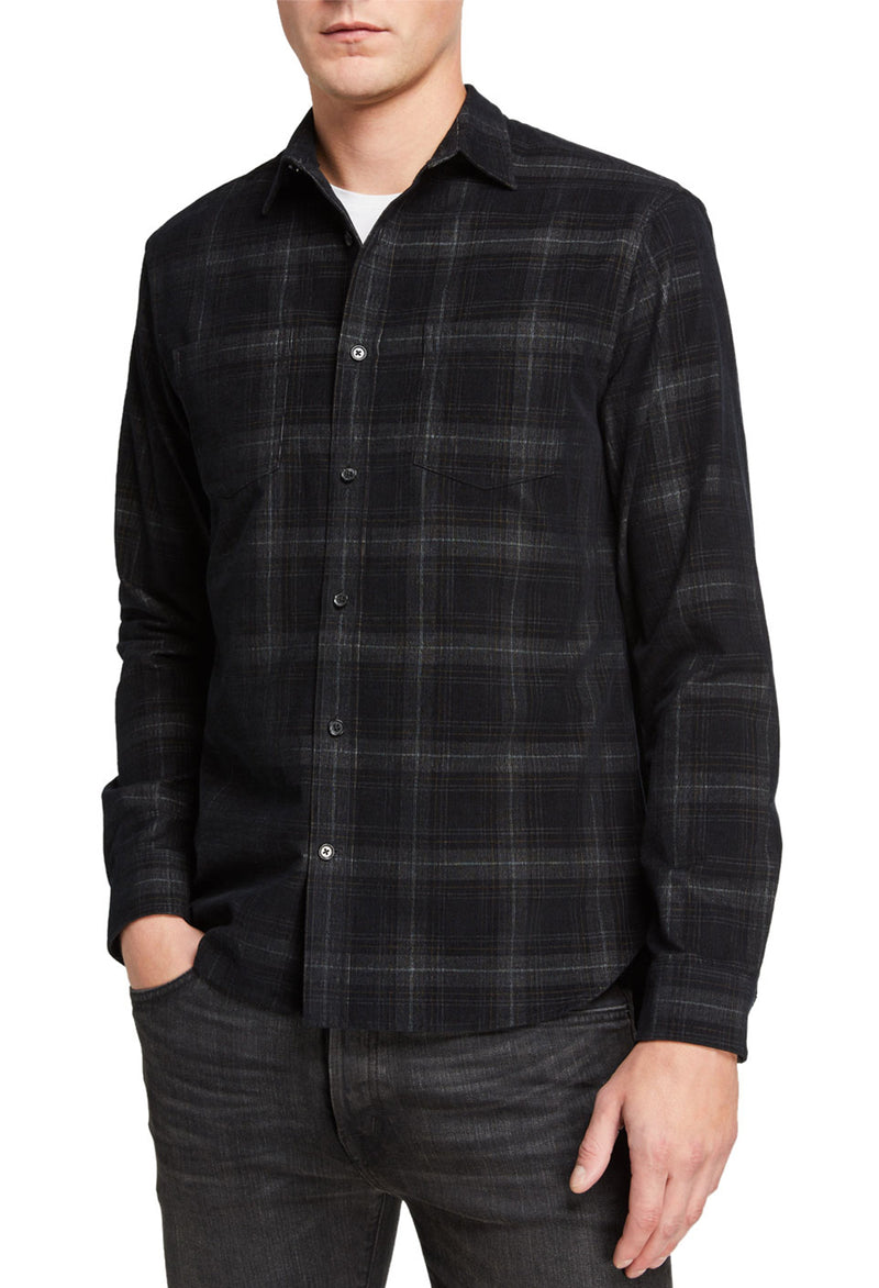 Vince Corduroy Plaid Shirt - RUST & Co.