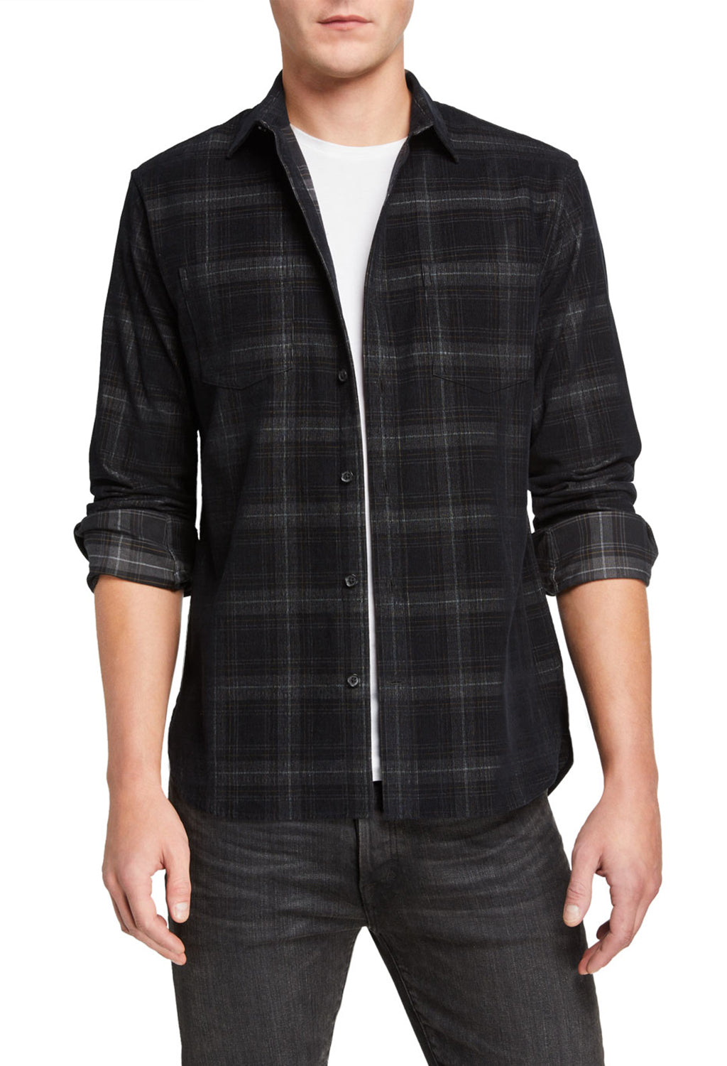 Vince Corduroy Plaid Shirt