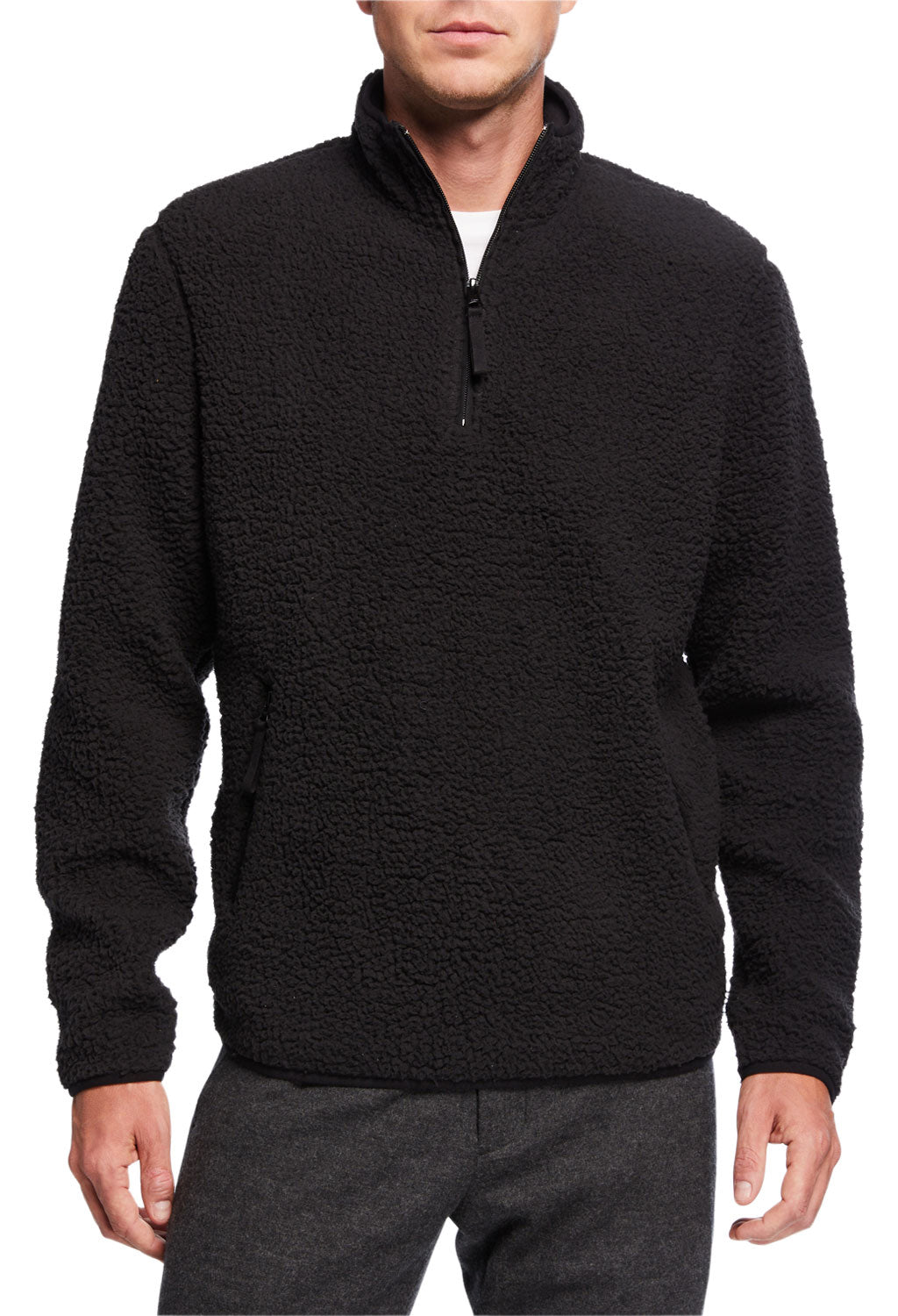 Vince Faux Sherpa Mock Neck
