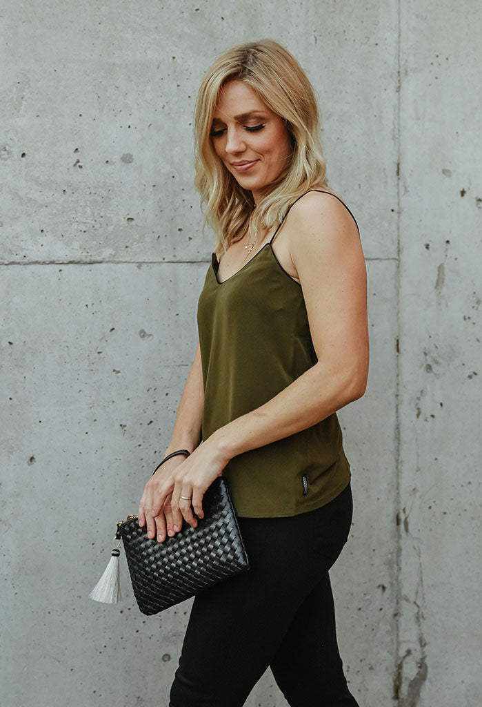 Scotch & Soda Cami Top w/ Piping Detail