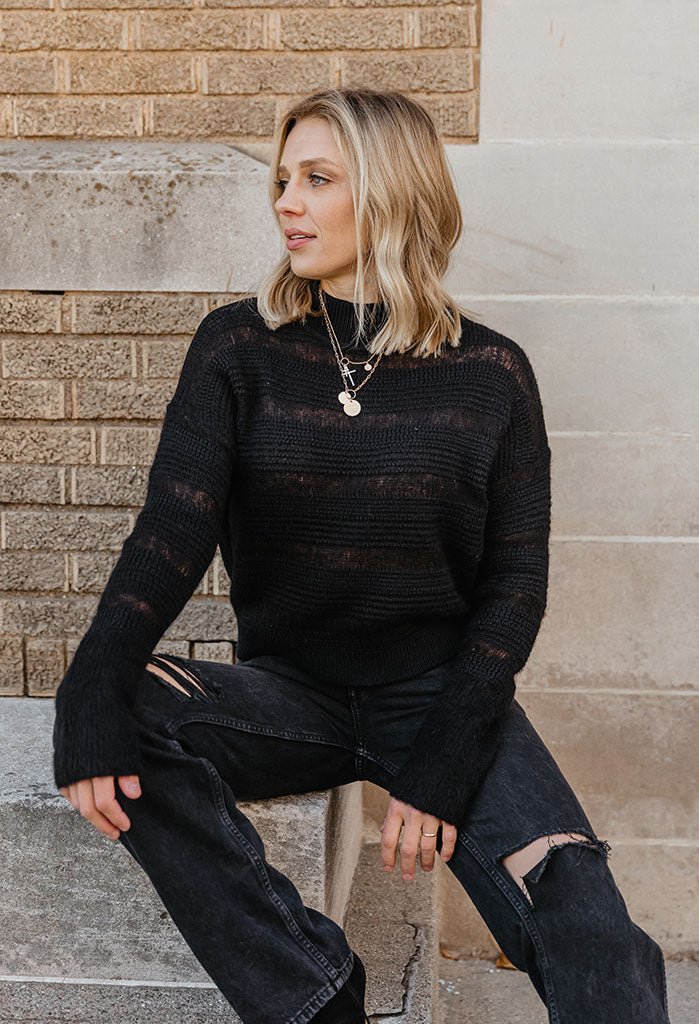 Brochu Walker Sidi Mock Neck Sweater