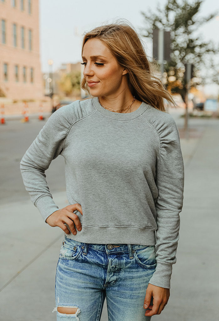 Sundry Shirred Raglan Sweatshirt