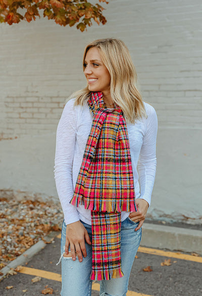 Soft Touch Light Weight Plaid Scarf
