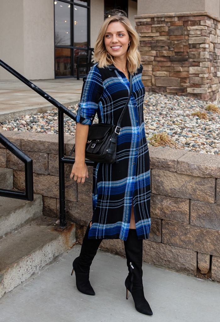 Bella Dahl Plaid Duster Dress