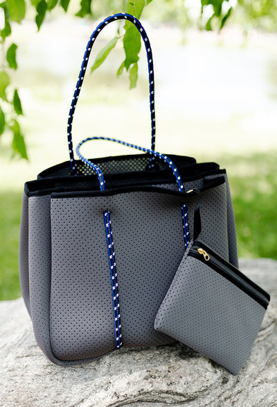 Annabel Ingall Sporty Spice Neoprene Tote, Charcoal