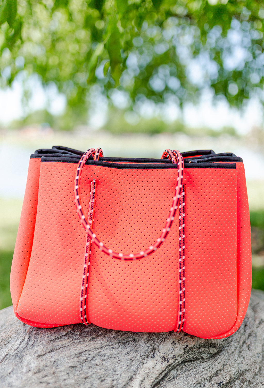 Annabel Ingall Sporty Spice Neoprene Tote, Tangerine