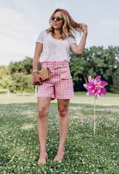 Polly High Rise Belted Shorts
