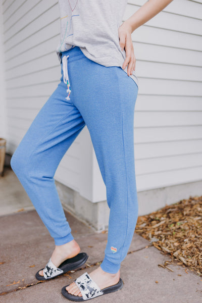 PJ Salvage Rainbow Trim Solid Jogger - RUST & Co.