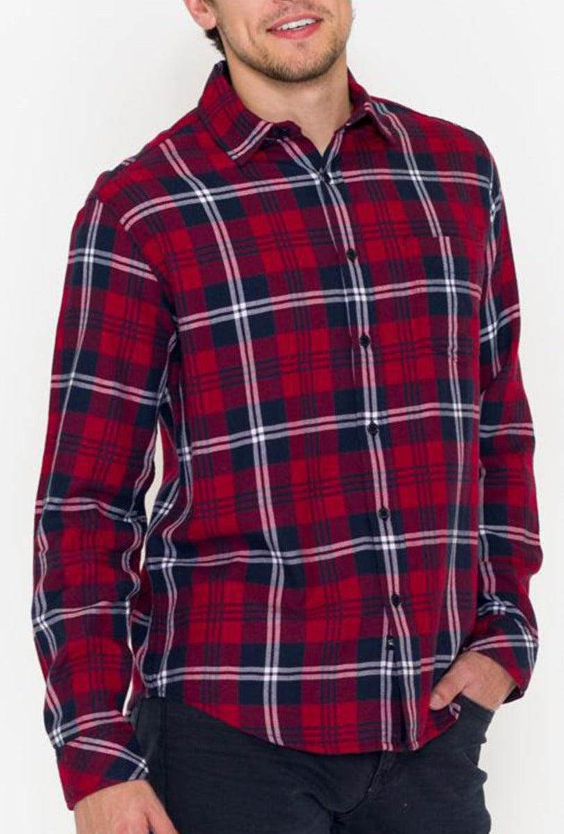 Rails Lennox Plaid Shirt, Red