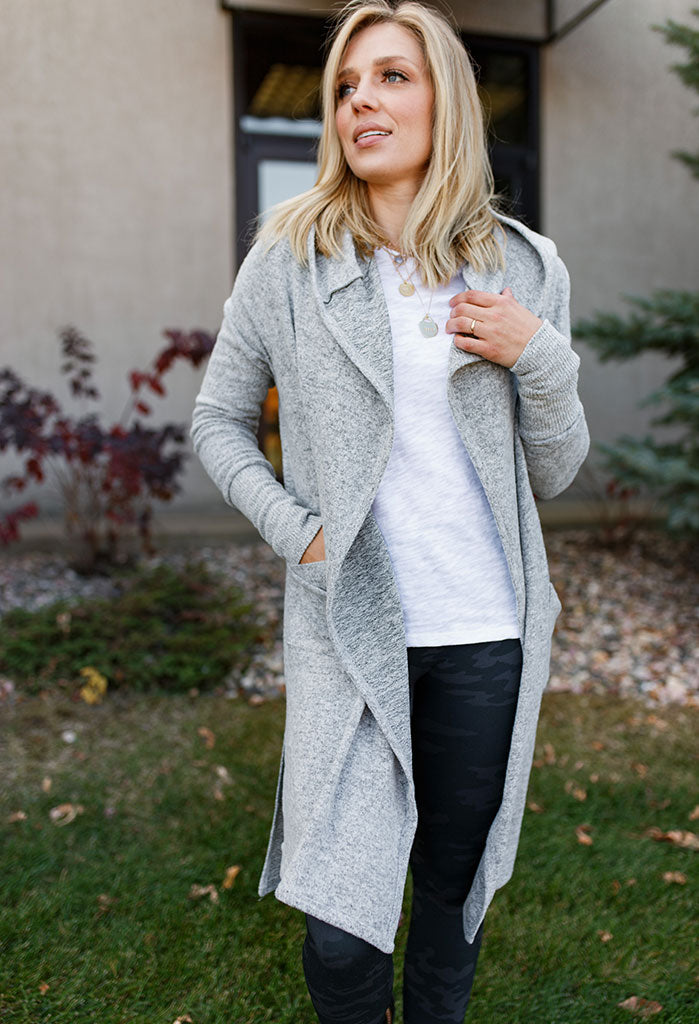 Harmony Brushed Knit Long Cardigan