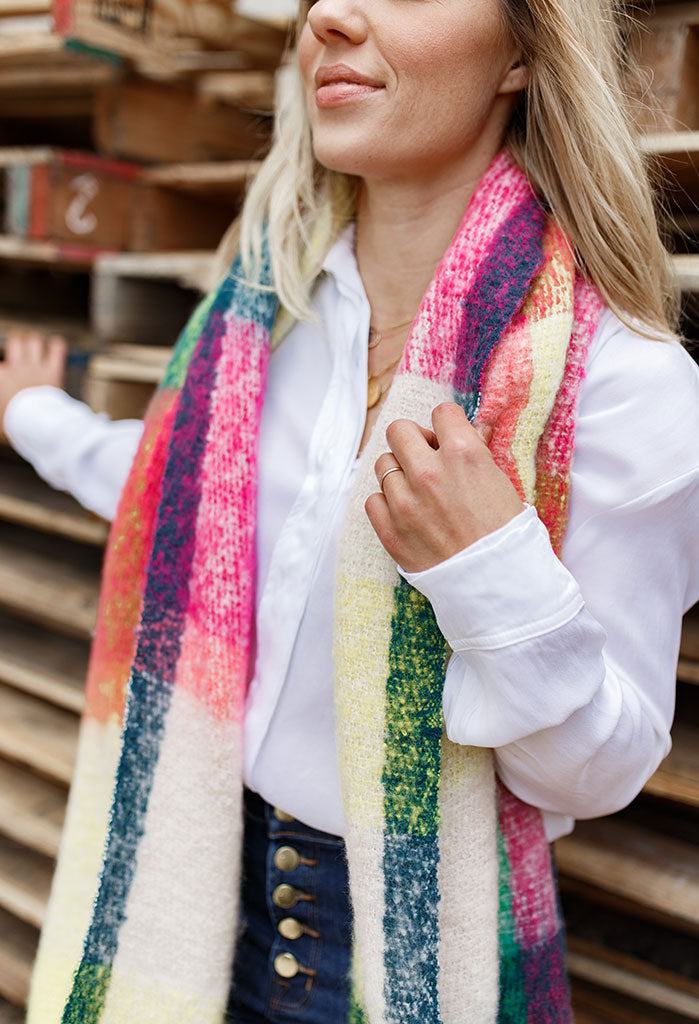 Bold Plaid Blanket Scarf