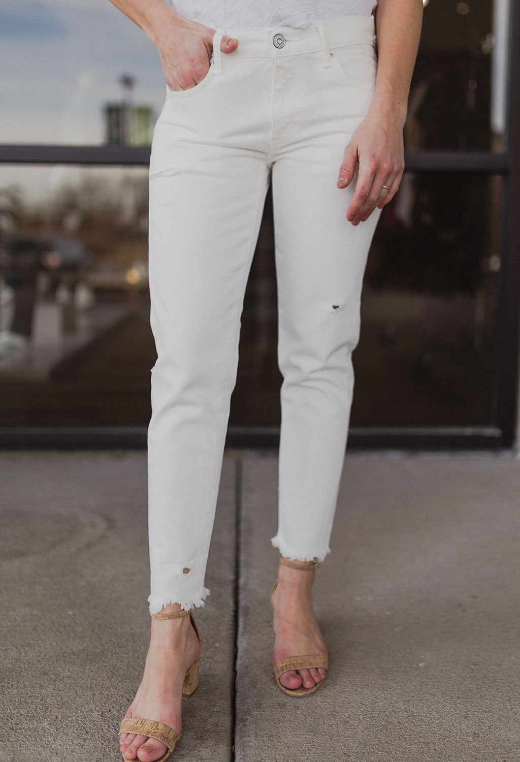 Moussy MV Kelly Tapered Denim, White