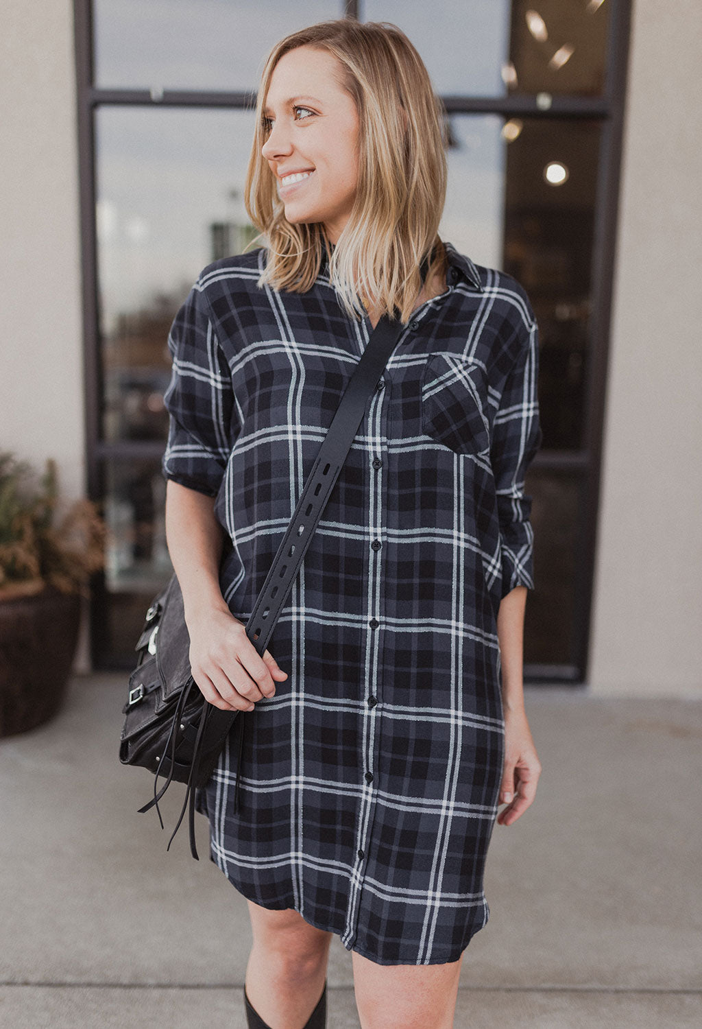 Rails Bianca Plaid Shirt Dress