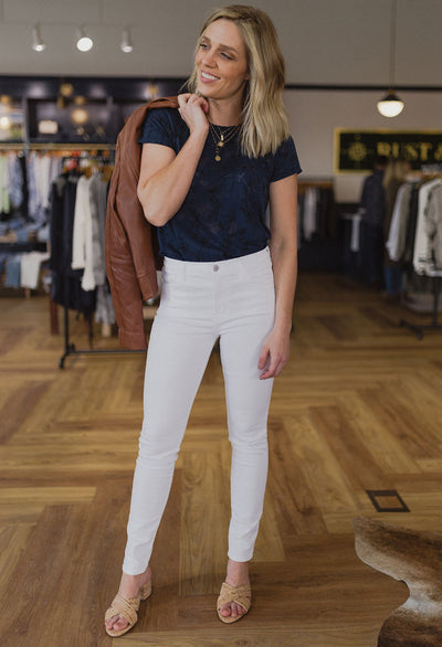 J Brand High Rise Skinny, White - RUST & Co.