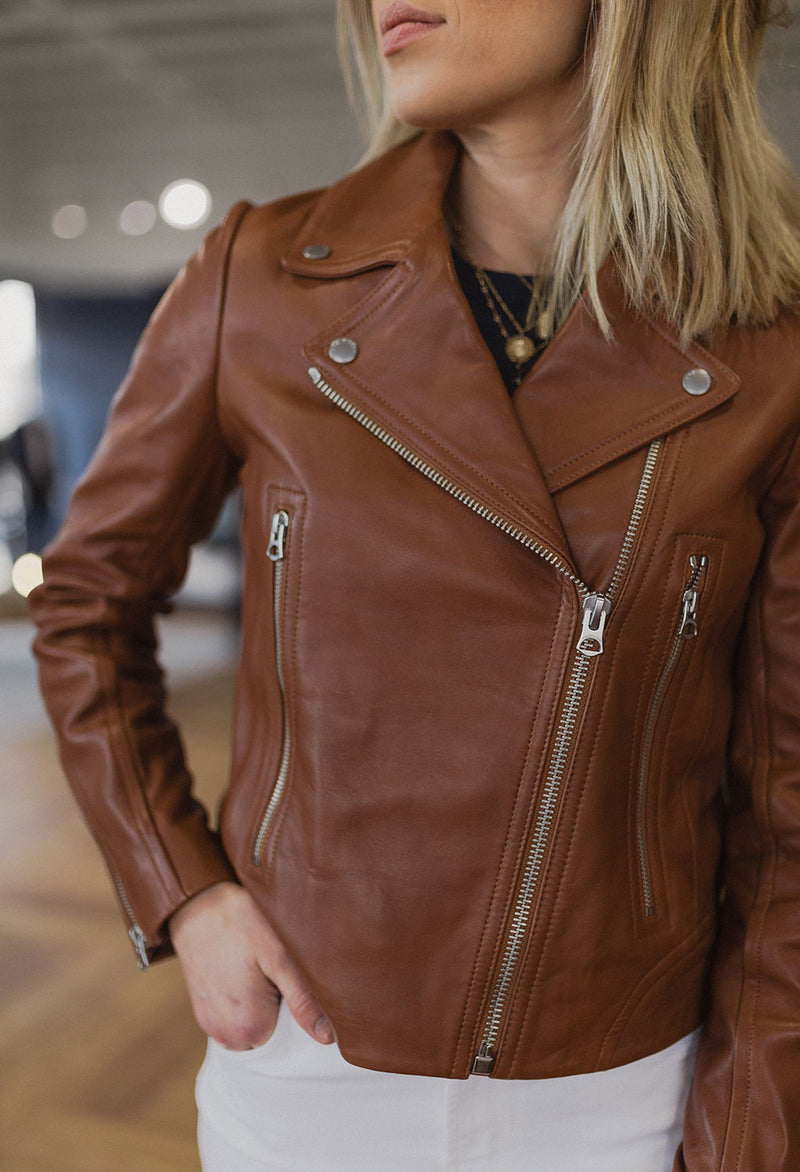 Rag & Bone Mack Leather Moto Jacket - RUST & Co.