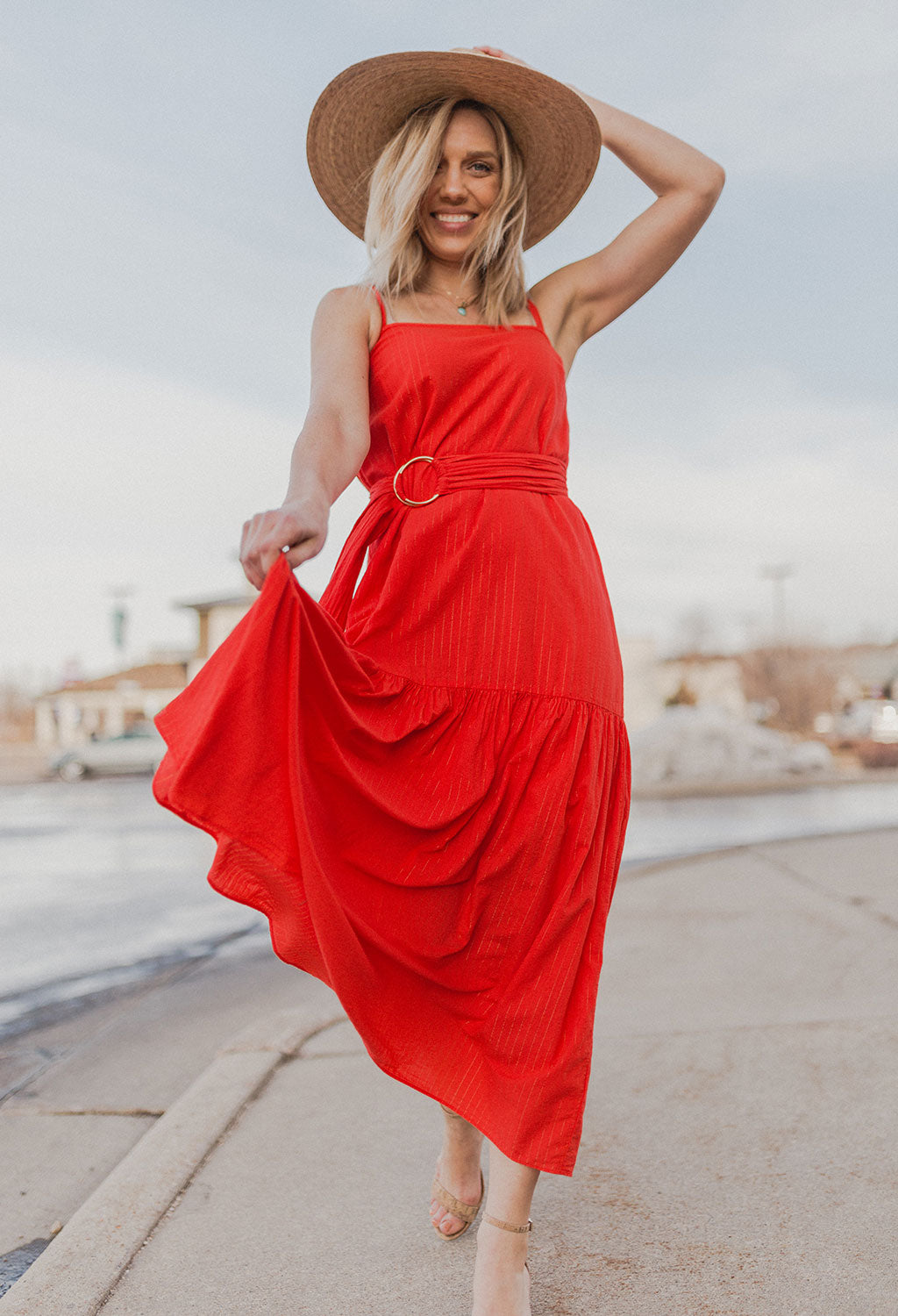 Nation Anais Belted Sun Dress