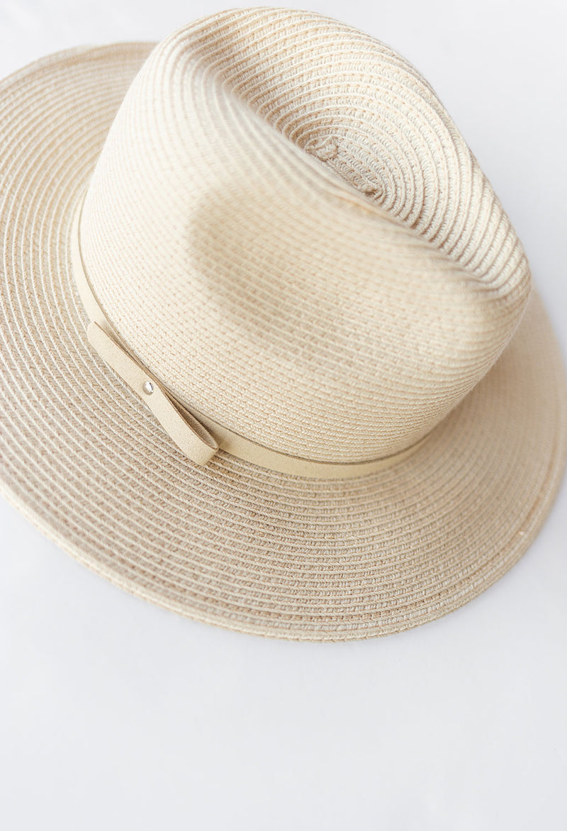 Lily Natural Fedora Hat