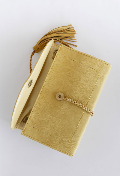 Misha Braid Trim Clutch/Crossbody bag