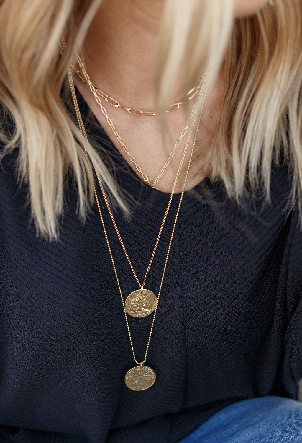 Lion Coin Necklace, 24""