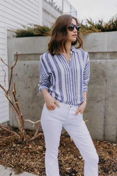 Rails Bay Stripe Button Down Shirt