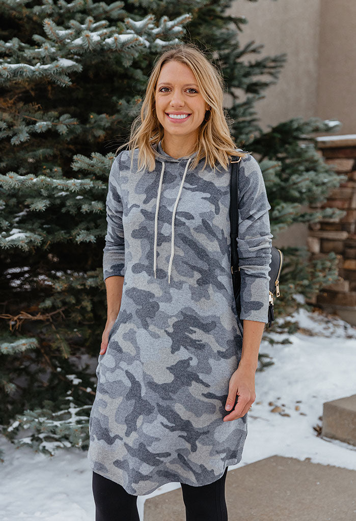 Hensley Cozy Knit Hoodie Dress