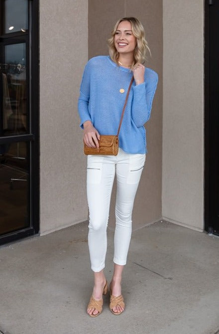 Charlie Spring Sky Crew Neck Sweater
