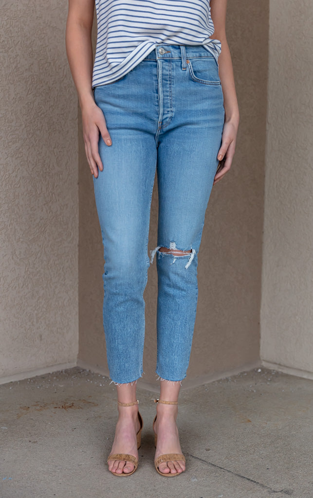 RE/DONE 90s High Rise Ankle Crop