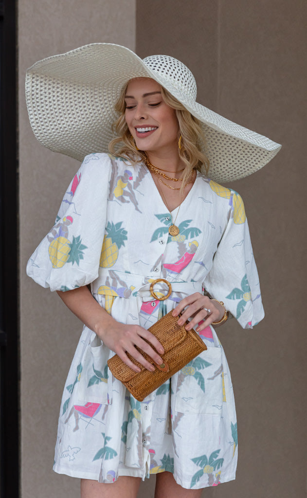 Wide Brim Open Weave Sun Hat