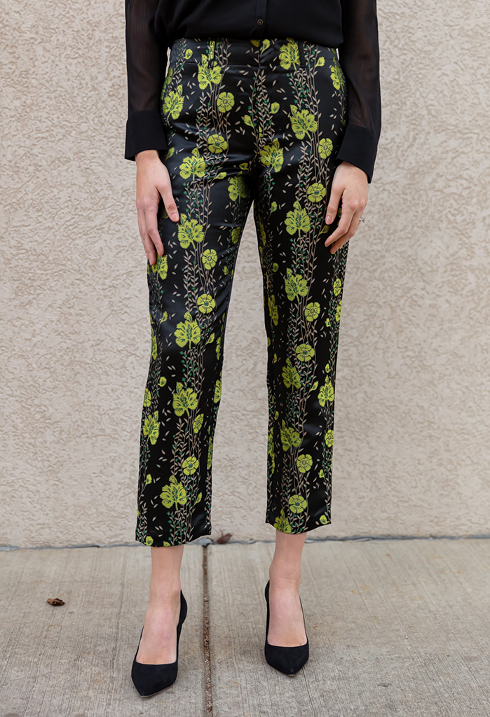 Scotch & Soda Floral Jacquard Pants
