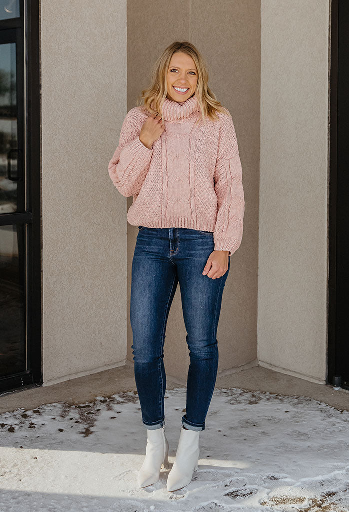 Merritt Plush Cable Turtle Neck Sweater