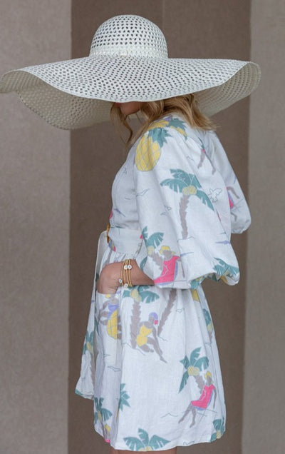 Place Nationale Le Dauphin Linen Dress