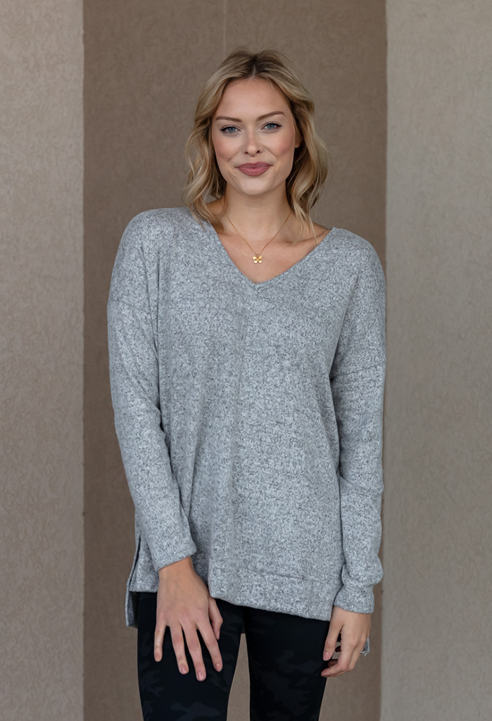 V-neck Cozy Knit Top