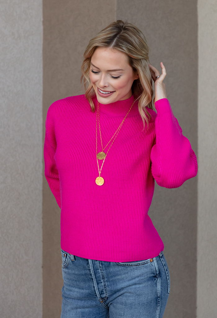 Penelope Mock Neck Sweater