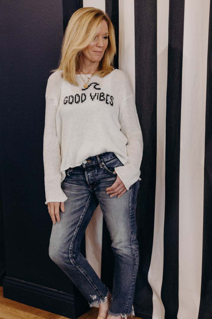 Good Vibes Crew Neck Sweater
