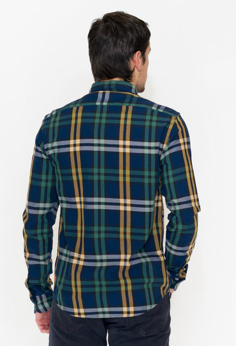 Scotch & Soda Classic Check Flannel, Navy/Gold/White