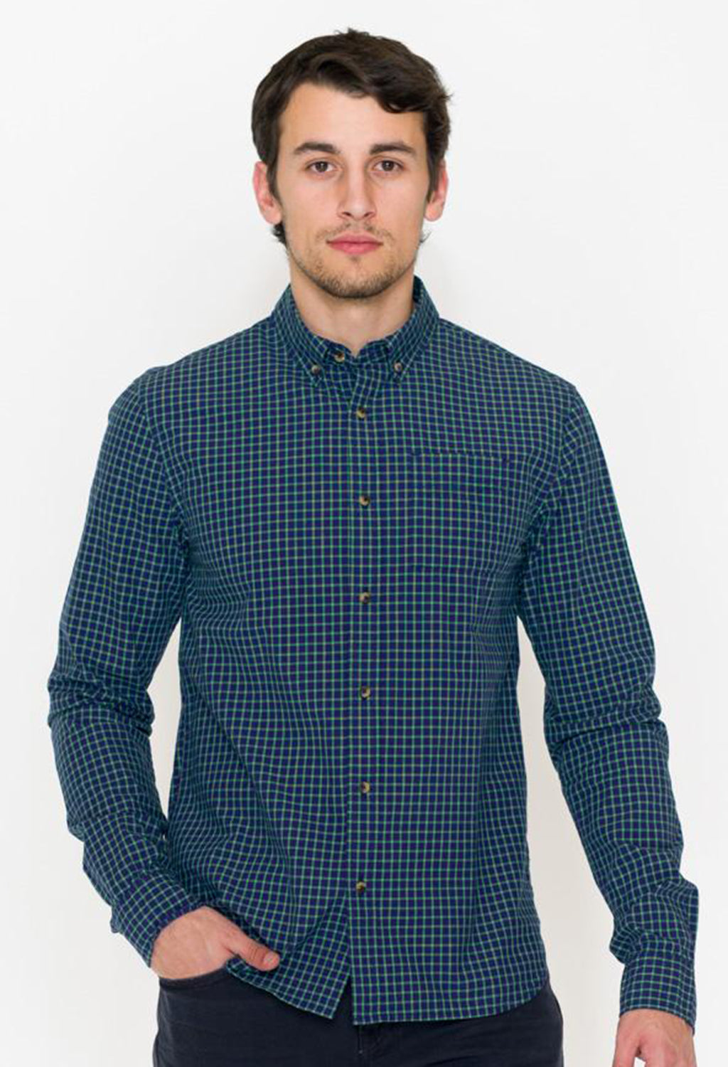 Scotch & Soda Multi Check Button Front