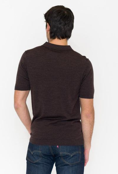 Short Sleeve Sweater Polo - RUST & Co.