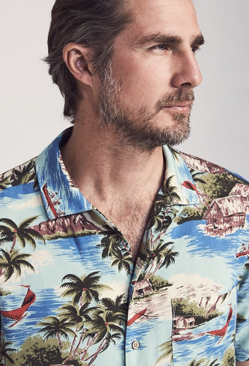 Faherty Kona Camp Shirt - RUST & Co.