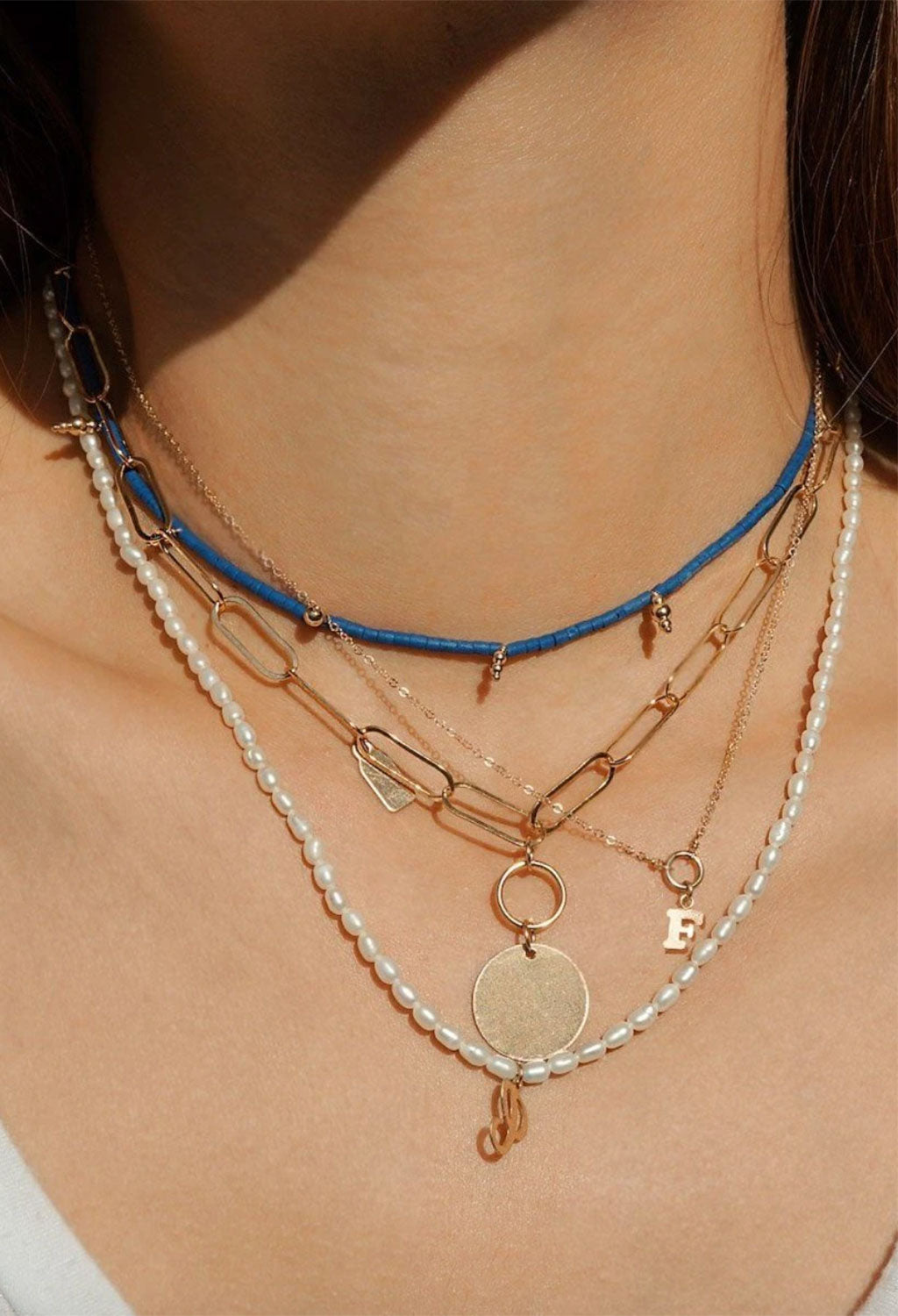 Mykonos Blue Beaded Necklace
