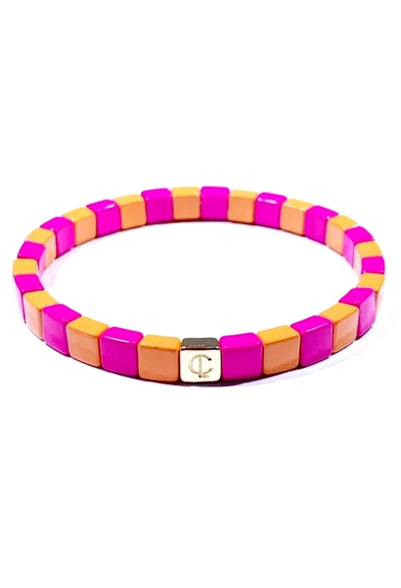 CL Sherbet Tiny Tile Beaded Bracelet