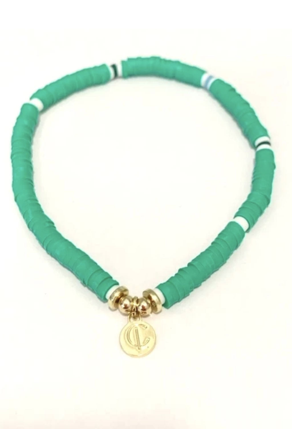 CL Seaside Kelly Green Disc Bracelet