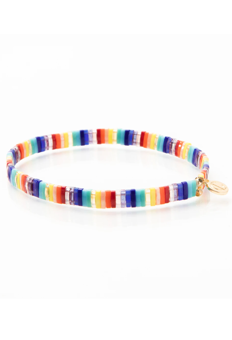 CL Brilliant Rainbow Glass Bead Bracelet