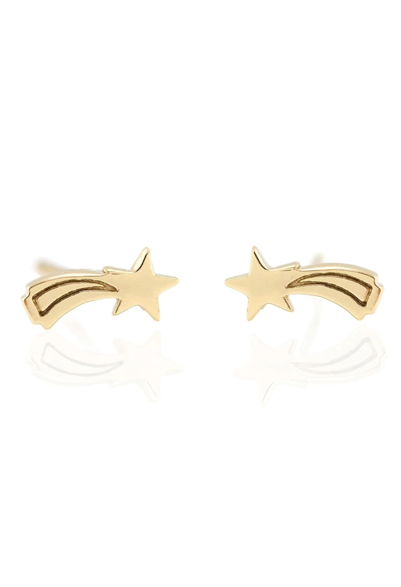 KN Shooting Star Gold Vermeil Studs