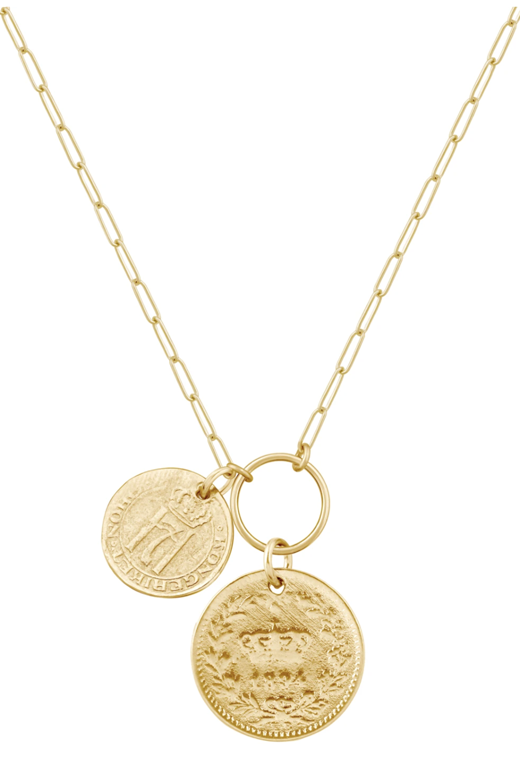 Double Coin Necklace 20""