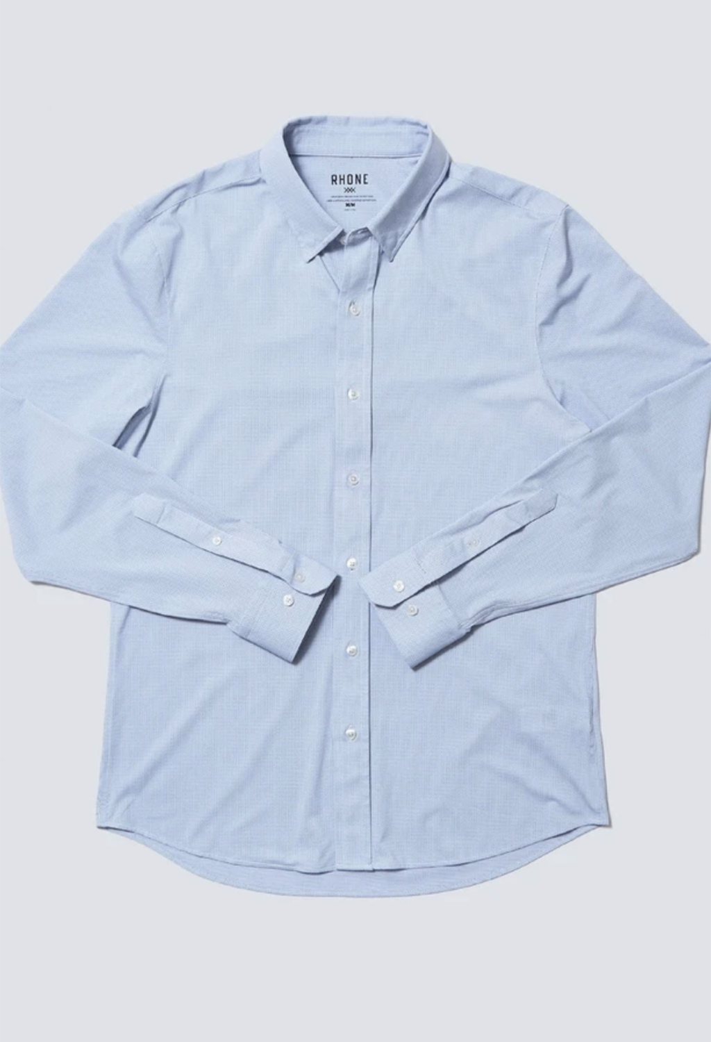 Rhone Commuter Dress Shirt, Navy Pin Dot