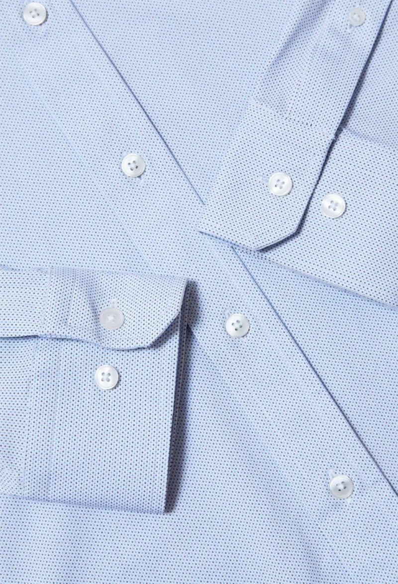.Rhone Commuter Dress Shirt, Navy Pin Dot
