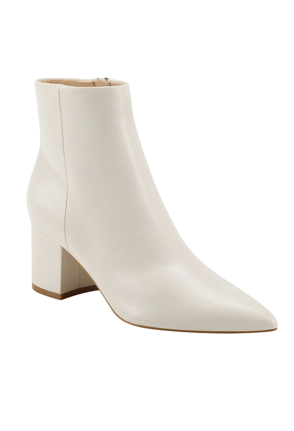 Marc Fisher Jarli Leather Bootie, Ivory