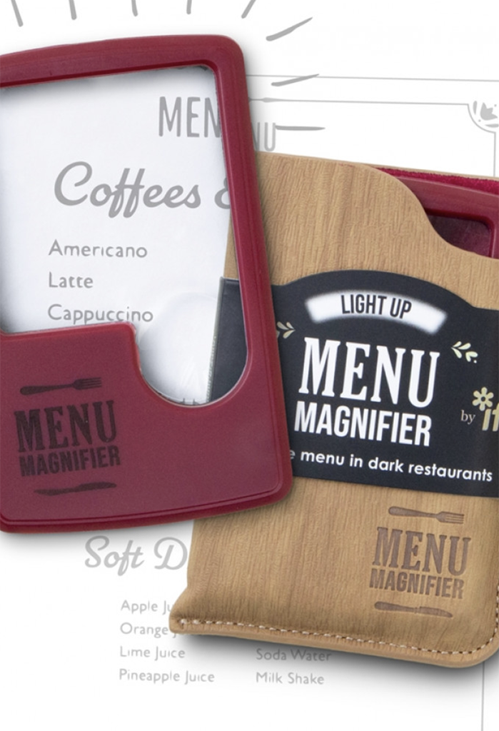 Lighted Menu Magnifier