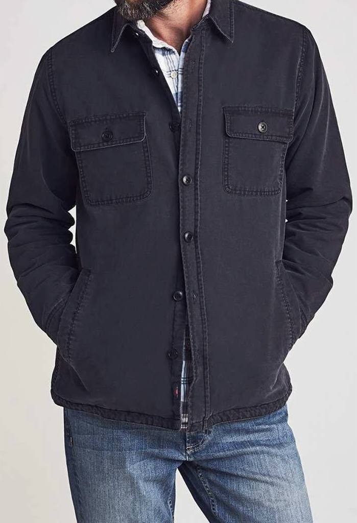 Faherty Stretch Blanket Lined Shirt Jacket