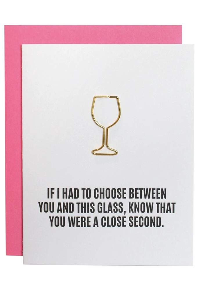 Paperclip Greeting Card, Close Second